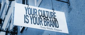 Your Culture Is Your Brand sign in a conceptual image